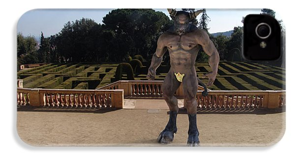 Minotaur In The Labyrinth Park Barcelona. IPhone 4 Case by Joaquin Abella