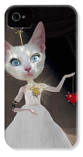 Miss Kitty IPhone 4 Case by Juli Scalzi