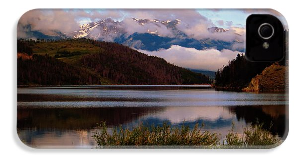 IPhone 4 Case featuring the photograph Misty Mountain Morning by Karen Shackles