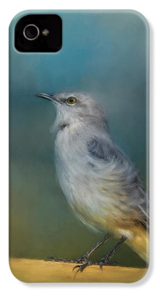 Mockingbird On A Windy Day IPhone 4 Case by Jai Johnson