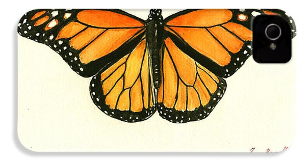 Monarch Butterfly IPhone 4 Case by Juan Bosco