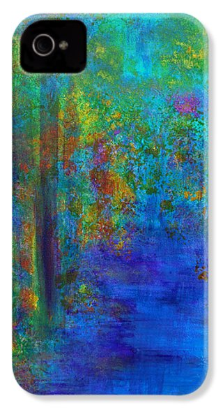 IPhone 4 Case featuring the painting Monet Woods by Claire Bull