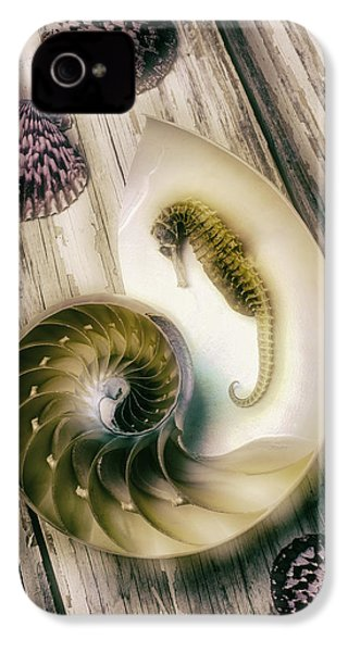 Moody Seahorse IPhone 4 Case by Garry Gay