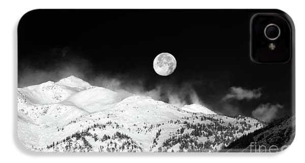 Moon Over The Alps IPhone 4 Case by Silvia Ganora