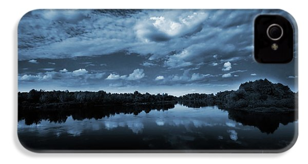 Moonlight Over A Lake IPhone 4 Case