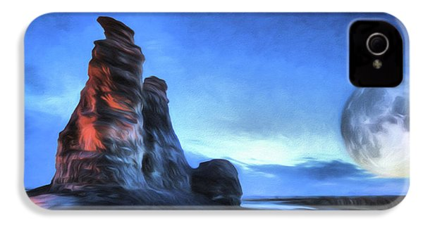 IPhone 4 Case featuring the digital art Moonrise Over Castle Rock by JC Findley