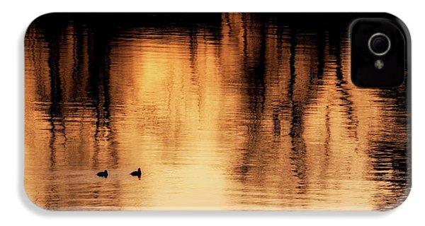 IPhone 4 Case featuring the photograph Morning Ducks 2017 by Bill Wakeley
