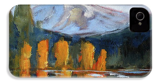 IPhone 4 Case featuring the painting Morning Light Mountain Landscape Painting by Nancy Merkle