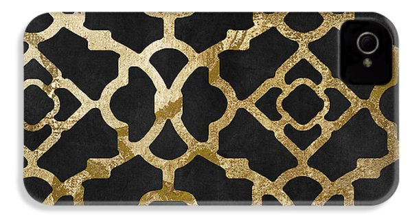 Moroccan Gold IIi IPhone 4 Case by Mindy Sommers
