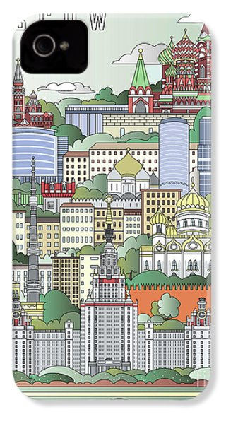 Moscow City Poster IPhone 4 Case by Pablo Romero