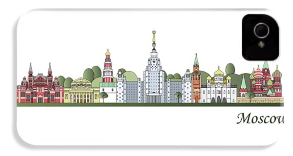 Moscow Skyline Colored IPhone 4 Case by Pablo Romero