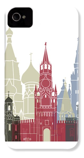 Moscow Skyline Poster IPhone 4 Case