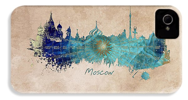 Moscow Skyline Wind Rose IPhone 4 Case