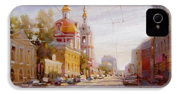 Moscow. Staraya Basmannaya Street IPhone 4 / 4s Case by Ramil Gappasov