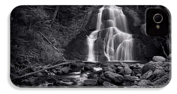 Moss Glen Falls - Monochrome IPhone 4 Case by Stephen Stookey