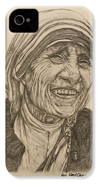 Mother Theresa Kindness IPhone 4 Case by Kent Chua