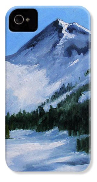 IPhone 4 Case featuring the painting Mount Baker Glacier by Nancy Merkle