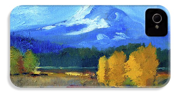 IPhone 4 Case featuring the painting Mount Hood by Nancy Merkle
