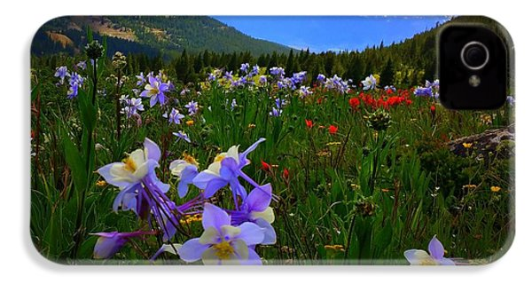 Mountain Wildflowers IPhone 4 Case by Karen Shackles