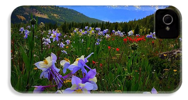 IPhone 4 Case featuring the photograph Mountain Wildflowers by Karen Shackles
