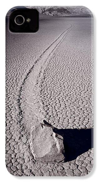 Moving Rocks Number 2  Death Valley Bw IPhone 4 Case