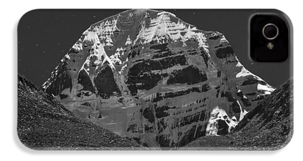 Mt. Kailash In Moonlight IPhone 4 Case by Hitendra SINKAR