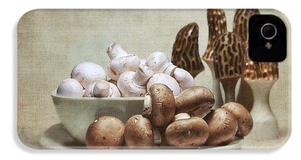 Mushrooms And Carvings IPhone 4 Case by Tom Mc Nemar