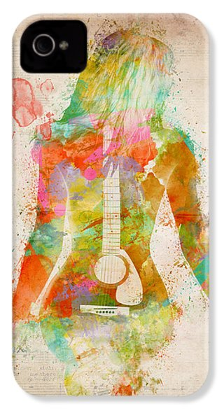 Music Was My First Love IPhone 4 Case by Nikki Marie Smith
