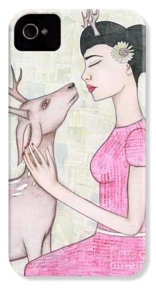 My Deer IPhone 4 Case by Natalie Briney