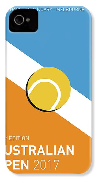 My Grand Slam 01 Australian Open 2017 Minimal Poster IPhone 4 Case by Chungkong Art