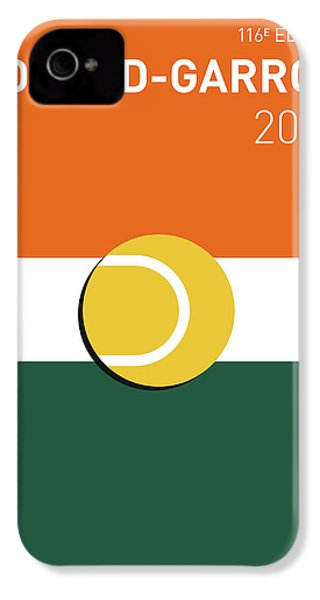 My Grand Slam 02 Rolandgarros 2017 Minimal Poster IPhone 4 Case by Chungkong Art
