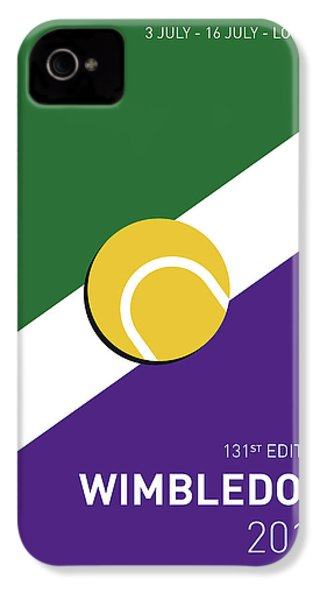 My Grand Slam 03 Wimbeldon Open 2017 Minimal Poster IPhone 4 Case by Chungkong Art