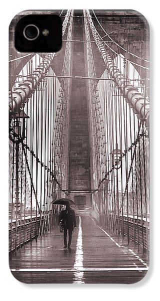Mystery Man Of Brooklyn IPhone 4 Case by Az Jackson