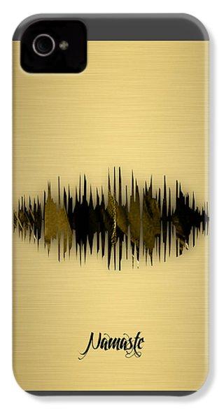 Namaste Spoken Soundwave IPhone 4 Case by Marvin Blaine