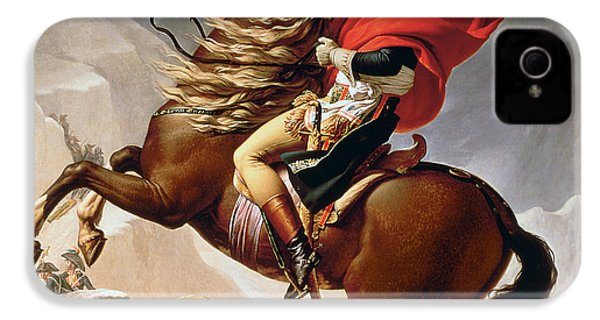 Napoleon Crossing The Alps IPhone 4 / 4s Case by Jacques Louis David