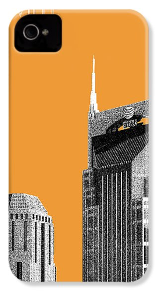 Nashville Skyline At And T Batman Building - Orange IPhone 4 Case