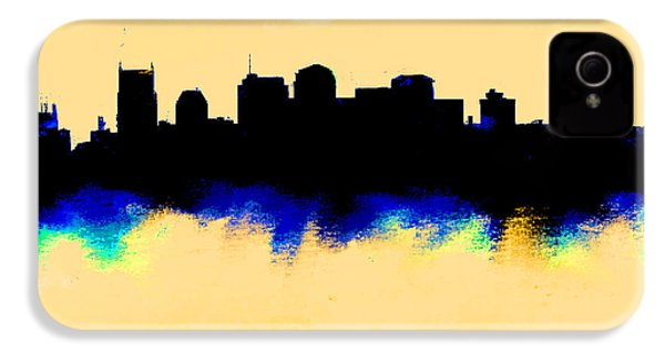 Nashville  Skyline  IPhone 4 Case by Enki Art