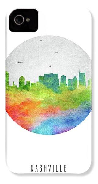 Nashville Skyline Ustnna20 IPhone 4 Case by Aged Pixel