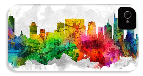 Nashville Tennessee Cityscape 12 IPhone 4 / 4s Case by Aged Pixel