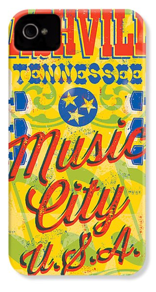 Nashville Tennessee Poster IPhone 4 Case