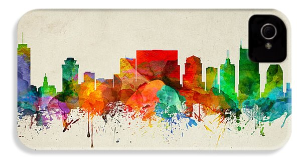 Nashville Tennessee Skyline 22 IPhone 4 / 4s Case by Aged Pixel