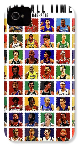 Nba All Times IPhone 4 / 4s Case by Semih Yurdabak