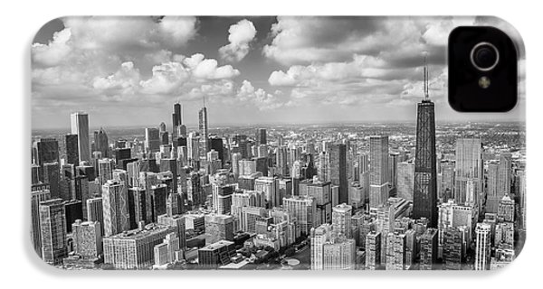 Near North Side And Gold Coast Black And White IPhone 4 / 4s Case by Adam Romanowicz