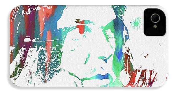 Neil Young Paint Splatter IPhone 4 Case by Dan Sproul