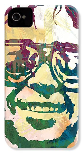 Neil Young Pop Stylised Art Poster IPhone 4 Case by Kim Wang