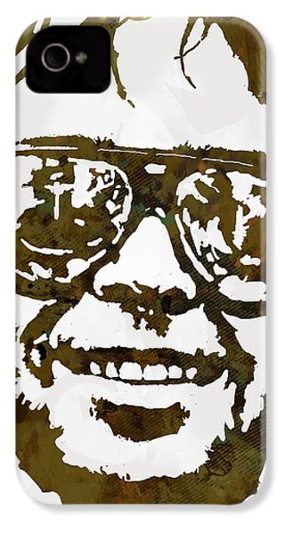 Neil Young Pop  Stylised Art Sketch Poster IPhone 4 Case by Kim Wang
