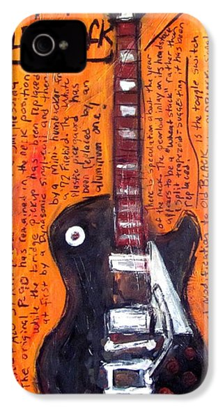Neil Young's Old Black IPhone 4 / 4s Case by Karl Haglund