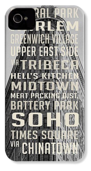 New York City Subway Stops Flat Iron Building IPhone 4 Case by Edward Fielding