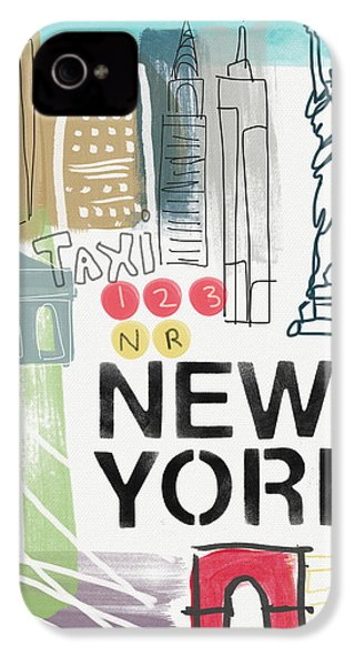 New York Cityscape- Art By Linda Woods IPhone 4 / 4s Case by Linda Woods