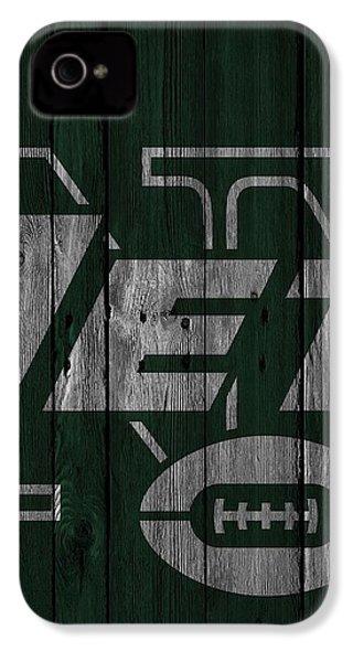 New York Jets Wood Fence IPhone 4 Case by Joe Hamilton